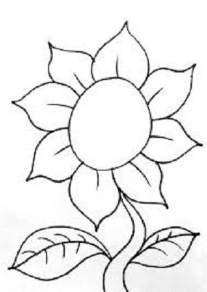 gambar mewarnai bunga, gambar mewarnai untuk anak TK, gambar mewarnai anak, gambar mewarnai kartun
